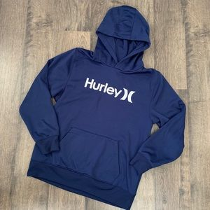 Boys Blue Hurley Therma-Fit Hoodie Size XL